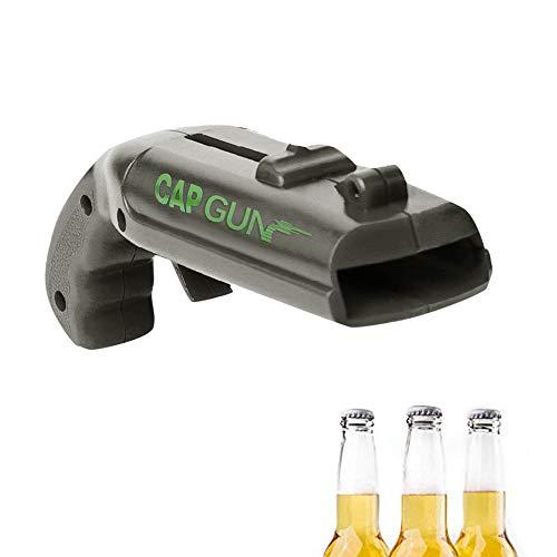 Holeider Bier Flaschenöffner, Mini Pistole geformte Flasche OpenerGap Gun Launcher, Kreativ Launcher Bier Flaschenöffner für das Schießen von Bierflasche Lücke, (Grau)