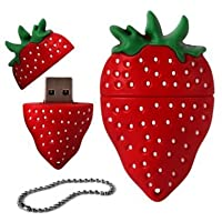 Funmazit 4GB Novelty Cute Strawberry USB 2.0 Flash Drive Data Memory Stick