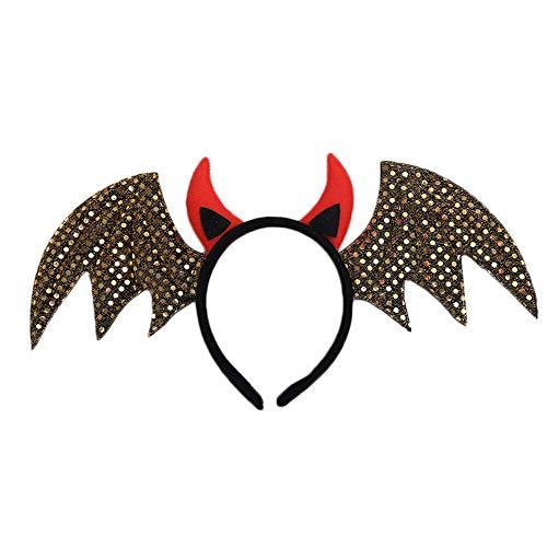 Made Kostüm Home Disney - Heetey Halloween Dekoration Halloween Stirnband niedlich Fledermaus Haarband Dekoration Ornament Haarband Skeleton Maske für Halloween Party Lieferungen Innen im Freien Hintergru
