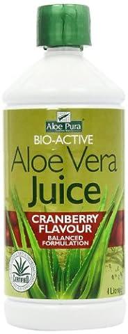 Aloe Vera Juice Cranberry (1000ml) Bulk Pack x 6 Super