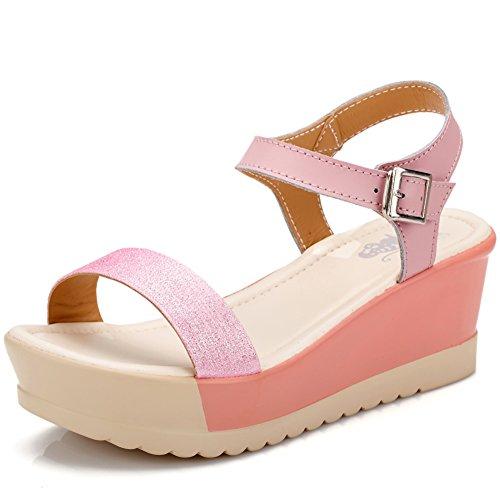 Sandales féminines au cours de l'été/Sandales compensées/Sandales à plateforme/Lady Sweet Sandals occasionnels A