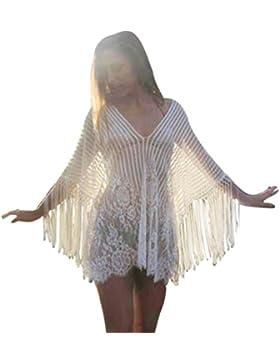 beautyjourney Copricostume mare donna lungo abito donna lungo da donna pizzo elegante vestiti lunghi spiaggia...