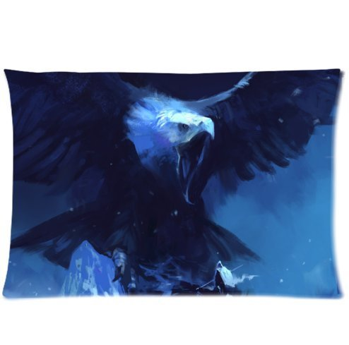ackershop-pattern-mountains-eagle-giant-man-wings-wingspan-snow-blizzard-night-design-pillowcase-20-