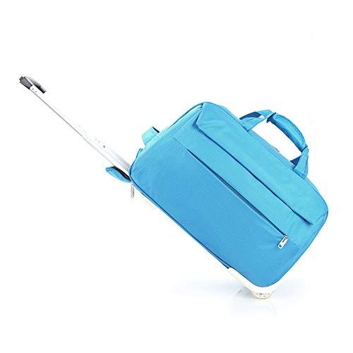 CDZNIU Leichte Reisetasche/Trolley, wasserdichtes Oxford-Handgepäck mit Rädern, für Rolltrolley für Geschäftsreisesportarten-blue-Large -