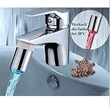 Universal Hydropowered LED Farbwechsel von Temperatur Wasserhahn Licht für Einhandmischer - geeignet für Badezimmer und Küche - keine Batterien notwendig!