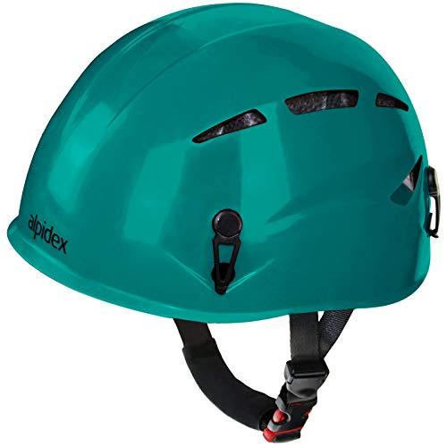 ALPIDEX Casco de Escalada Universal Argali Casco de ferrata en Modernos y Variados Colores, Color: Turquoise Green