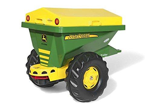 Rolly Toys Anhänger Rolly Toys 125111 Anhänger Streumax John Deere, mit stabiler Streumulde, rotierender Streuscheibe, abnehmbarer Abdeckung (geeignet für Kinder ab 3 Jahren, Farbe: Grün/Gelb)