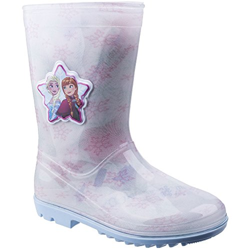 Leomil Girls Elsa Snow Flake Waterproof Lightweight Wellington Boots