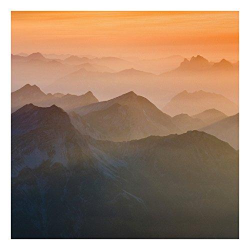 75 Fine Art Prints (Apalis FOREX Fine Art Print-Wandbild Blick von der Zugspitze-Quadratisch 1: 1, Dimension HxB: 75cm x 75cm)