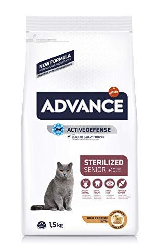 Advance Trockenfutter für Katzen, sterilisiert, Senior, ab 10 Jahren , 3er Pack