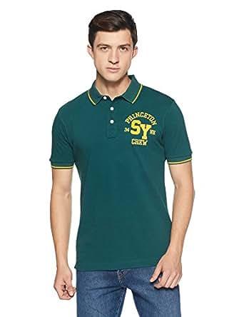 Amazon Brand - Symbol Men's Plain Regular Fit Polo (SS18PLK178B_Moss Green_S)
