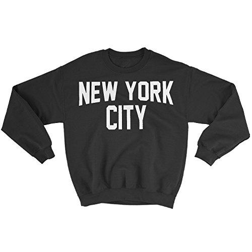 NYC FACTORY New York City Sweatshirt mit Siebdruck, für Erwachsene, Schwarz - Schwarz - XX-Large -
