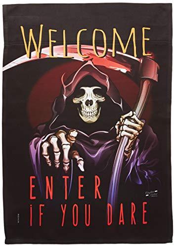 Angeleno Heritage g135068Geben Sie Wenn Sie Dare Fall Halloween Deko Vertical Garden Flagge, 33x 47cm Mehrfarbig (Geben Halloween Sie)