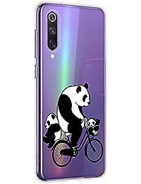Oihxse Cristal Compatible con Realme X50 5G Funda Ultra-Delgado Silicona TPU Suave Protector Estuche Creativa Patrón Panda Protector Anti-Choque Carcasa Cover(Panda A10)