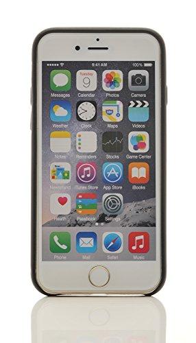 "iProtect® Apple iPhone 6 (4,7"") Hülle Kunstleder Hard Case Schutzhülle beige Schwarz"