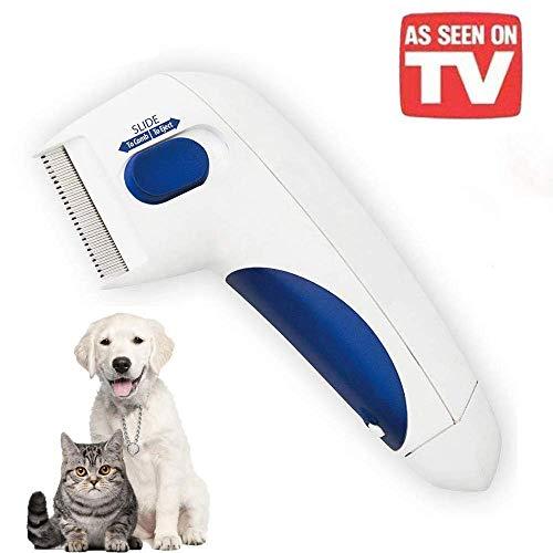 HHJ Flohkamm, elektrischer Kamm, gegen Flöhe, Läuse und Zecken, zur Entfernung von Flöhen, Zecken und Zecken wie im Fernsehen gesehen, sicher für Haustiere