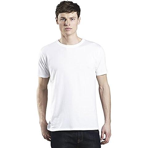 Premium-Maglietta girocollo a maniche corte da uomo, in cotone, in Tencel, un uso quotidiano, con i bestseller