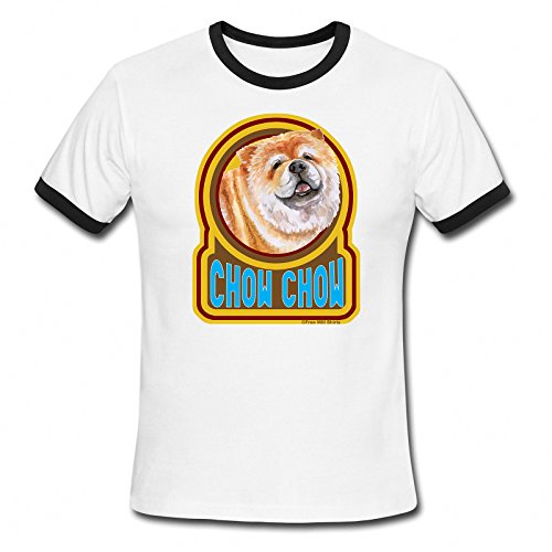 mens-ladies-ringer-t-shirt-chow-chow-dog-retro-style-gift-birthday