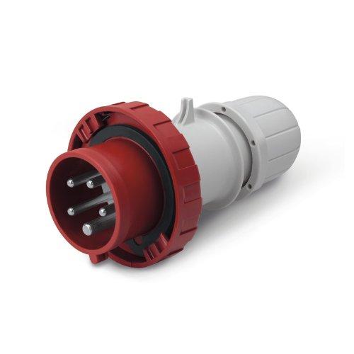 Scame 218.1637P Conector Eléctrico, 415 V, Rojo