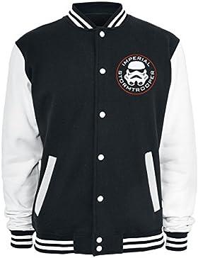 Star Wars Imperial - Chaqueta estilo college Stormtrooper - Color negro/blanco