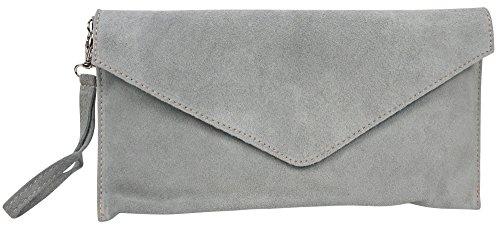 Big Handbag Shop Pochette pour femme en cuir et daim italiens