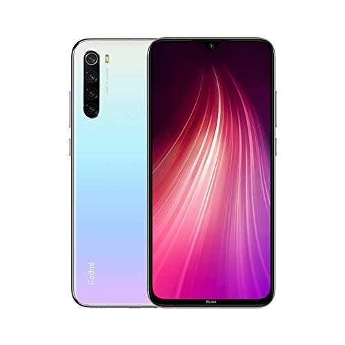 """Teléfono Xiaomi Redmi Note 8, Color Blanco, 64 GB de ROM, 4 GB de RAM, Versión Global, Pantalla de 6.3"""", Cámara de 13 MP y Frontal de 48 MP. Cuatro Cámaras Traseras. - Smartphone completamente libre. - Características:   48MP Quad cámara trasera,48M..."""