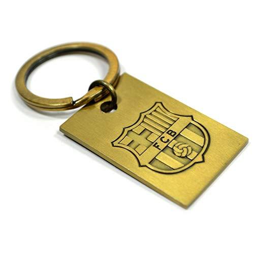 FC Barcelona Schlüsselanhänger, geprägtes Metall, Vintage-Stil