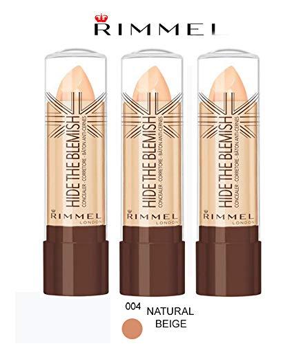 Kit 3Stück Rimmel Hide The Blemish Concealer in Stick 4,5g 004Natural Beige -