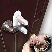 Door Lever Lock (2 Pack) Child Proof Doors & Handles Adhesive Child Sa