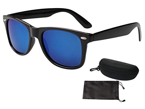 AIEOE Wayfarer Sunglasses Mens and Womens with Colour Polarised Lenses PC Frame Shades UV400 Protection