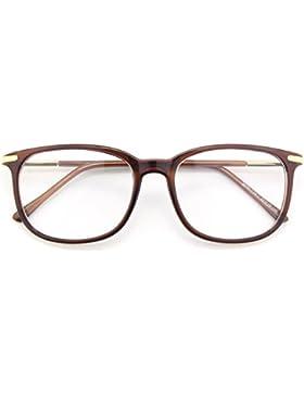 CGID CN79 Klassische Nerdbrille ellipse 40er 50er Jahre Pantobrille Vintage Look clear lens