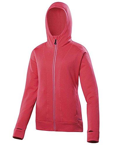 Terramar Sports Damen ecolator Full Zip Hoodie, Damen, Poppy Base-orange-fleece