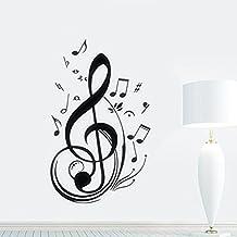 Skyllc® Impermeable Vinilo Music Note pared Sticker Decal Decoración de la Habitación