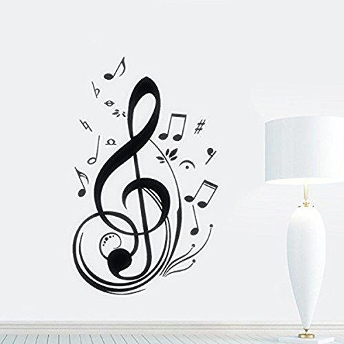 Skyllc® fashion art adesivi murali nota di musica, scenografia, decorazioni per la casa