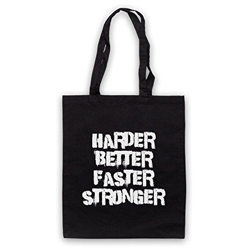 Inspiriert durch Daft Punk Harder Better Faster Stronger Inoffiziell Umhangetaschen Schwarz