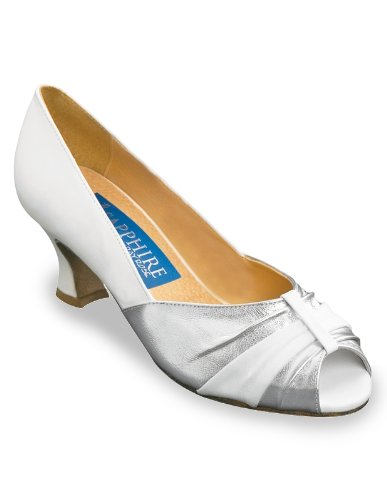 Ray Rose 'Rose' Standard Tanzschuhe Silber/Weiß 40 (6.5 UK) (Tanzschuhe Ray Rose)