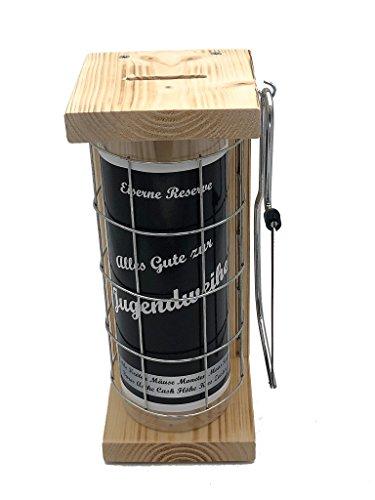 dweihe Eiserne Reserve Spardose incl. Säge zum zersägen des Gitters Geldgeschenk Sparbüchse, die ausgefallene lustige witzige originelle Geschenkidee ()