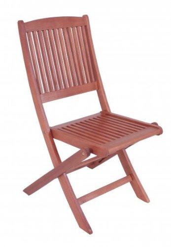 Lot de 2 chaise pliante en bois d'eucalyptus fSC huilé
