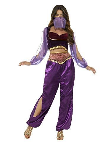 Kostüm Harems Tänzerin - shoperama Arabische Prinzessin Haremsdame Bezaubernde Jeannie 1001 Nacht 3-TLG. Damen Kostüm Araberin Bauchtanz Belly Dance Harem Orient Märchen Jasmin, Größe:S