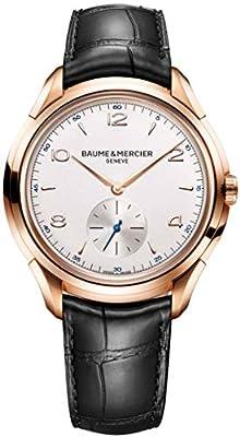 Baume & Mercier Men's Clifton 42mm Black Leather Band Mechanical Watch 10060