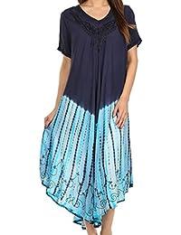 Sakkas Viveka Embroidered Caftan Dress