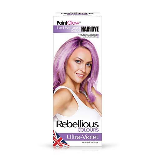 Colorante Per Capelli Semi-Permanente Rebbellious Paintglow (Ultra Violet - Viola)