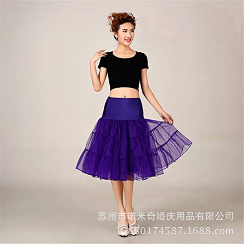 Womens Retro mariage Petticoat Reifrock Unterrock Rockabilly Dress Puff Jupe 13#