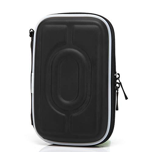 EVA Elektronisches Zubehör Organizer 6,35 cm HDD Tasche Hard Case Travel Storage Pouch for Hard Disk Drive Cable USB Charger Cord Earphone Schwarz -