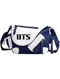 Kpop BTS garçons pare-balles autour de toile sac à bandoulière bag hommes et femmes sac de voyage eTXa0ULRs6