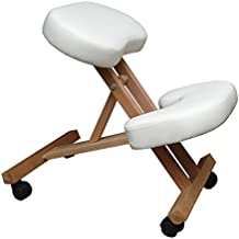 Silla A3W oficina ergonómica blanca con apoyo para las rodillas