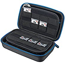 Supremery New Nintendo 3DS XL / 3DS / NEW 3DS LL Case Hülle mit Netztasche, Reißverschluss und Karabinerhaken - Wasserabweisend in Blau/Schwarz