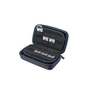 Supremery Tasche für New Nintendo 3DS XL / 3DS / New 3DS LL Case Hülle mit Netztasche, Reißverschluss und Karabinerhaken – Wasserabweisend in Blau/Schwarz