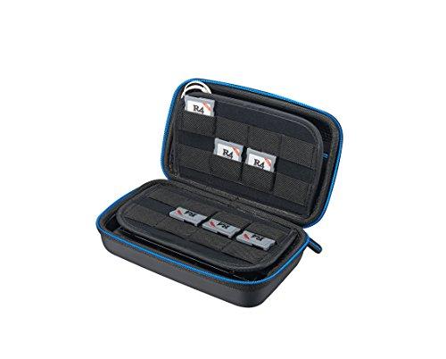 Supremery New Nintendo 3DS XL/3DS/NEW 3DS LL Case Hülle mit Netztasche, Reißverschluss und Karabinerhaken - Wasserabweisend in Blau/Schwarz
