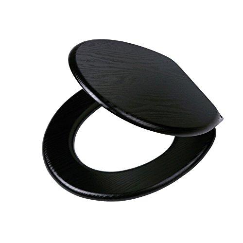 Tiger 252030746 WC-Sitz Blackwash in Holzoptik mit Absenkautomatik, schwarz